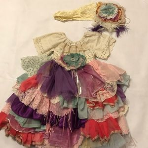 Other - Princess & Frog Boutique Shabby Chic Dress 3-4T